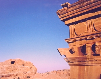 Sunrise on an Ancient Nabataean Architectural Marvel